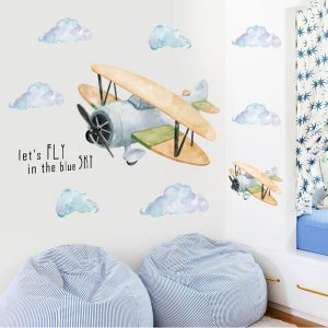 Sticker mural avion